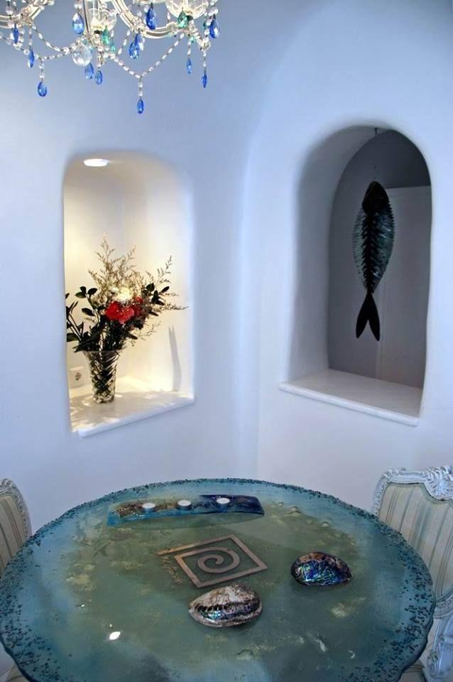 Artistic details! #ArtMaisons #Santorini Photo credits: Oleg Gudkov