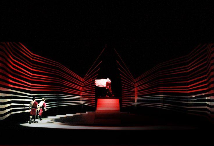 Drama, Macbeth,set design by Xu xiaohuan.