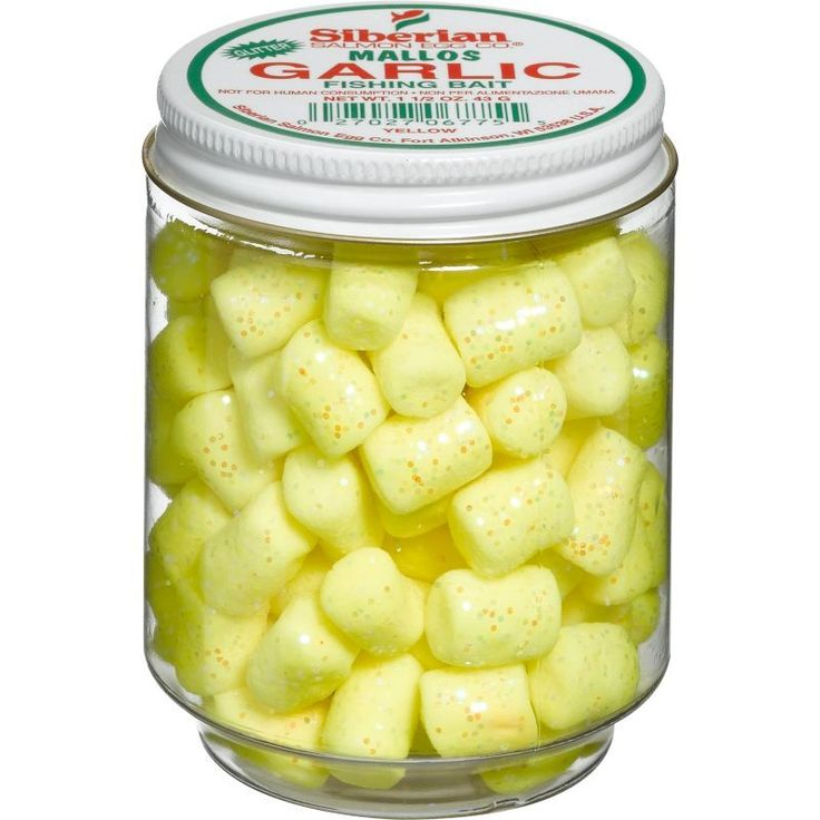 Siberian Glitter Marshmallows Trout Bait, Yellow