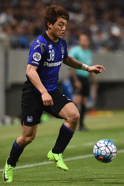 Ritsu Doan of Gamba Osaka controls the ball during the AFC Champions League Group H match between Gamba Osaka v Adelaide United at Suita City Football Stadium on April 25, 2017 in Suita, Japan.