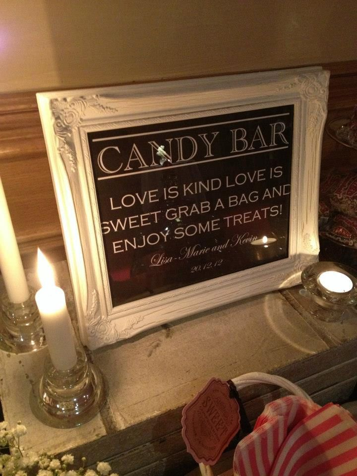 Wedding Candy Bar/Buffet Sign or Poster DIY Print Ready. $10.00, via Etsy.