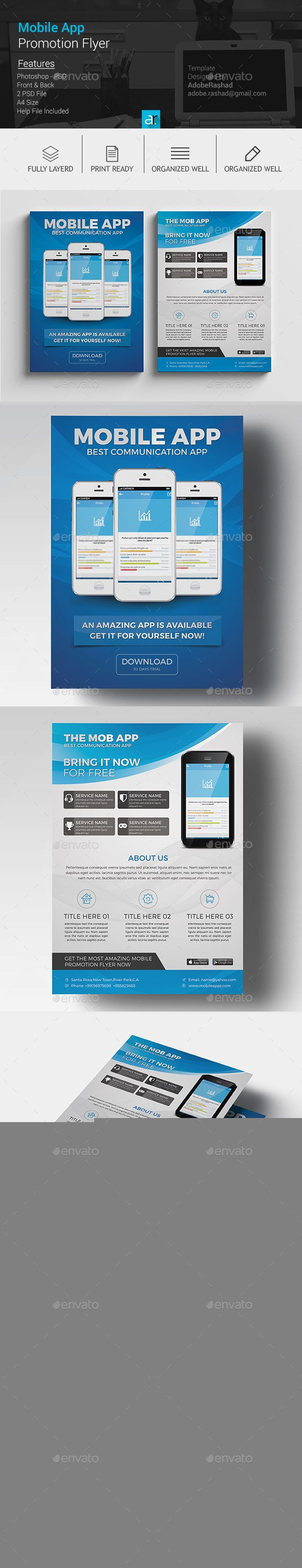 best images about flyers business flyer mobile app promotion flyer psd template 10141 graphicriver net