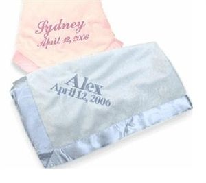 Perfect Baby Blanket With Satin Trim! - http://www.gotobaby.com/ – Get the perfect personalized baby blanket with satin trim and  lot of other great blanket selections now.