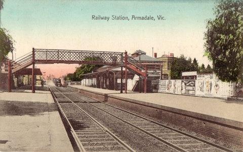 Railway Station, Armadale, Vic., ca. 1900.