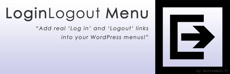 BAW Login Logout Menu - You can now add a correct login & logout link in your WP menus.
