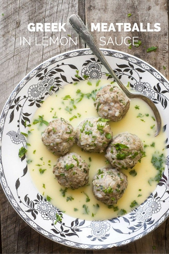 Incredibly flavorful and light Greek Meatballs in Lemon Sauce