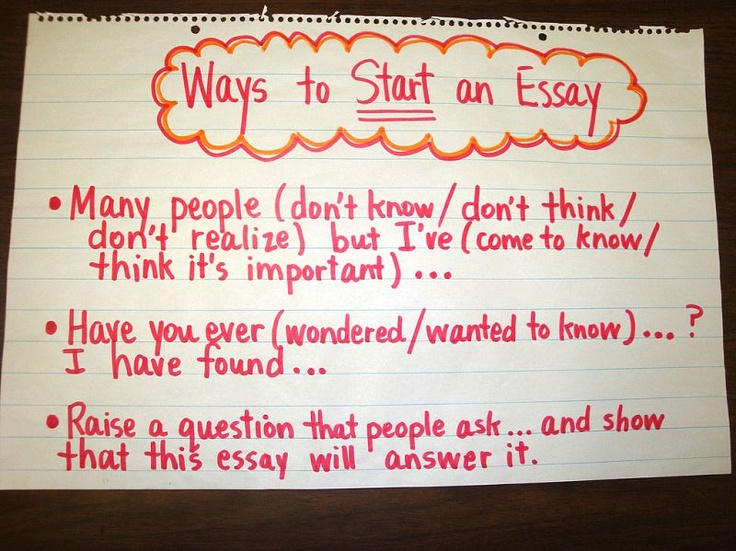 Narrative essay idea Englishlinx com Beginning your essay is important because you need to make a good first  impression on your reader  Here are some suggestions and reminders for  constructing