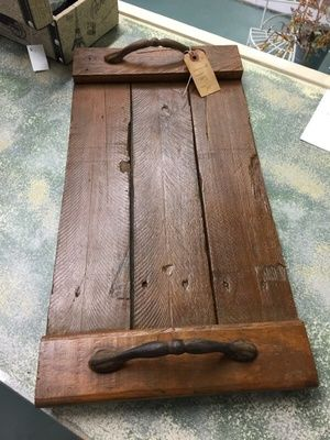 Wood pallet serving tray in Norwood, MA (sells for $25)