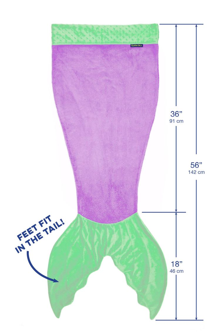 Mermaid Blanket by Blankie Tails - Purple & Green (Child/Youth 3-12 Years Old) - Blankie Tails - 1