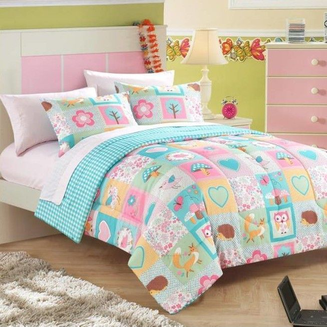 Bed in a Bag Toddler Comforter Set in Woodland Friends