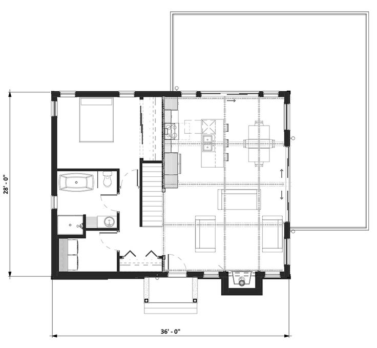bordure de lac chalet lap0360 maison laprise maisons pr usin es small house. Black Bedroom Furniture Sets. Home Design Ideas