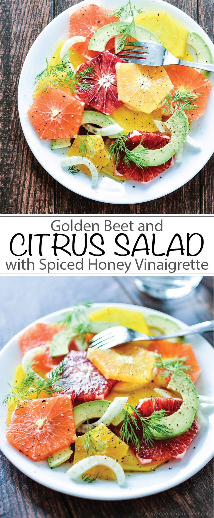 Golden Beet and Citrus Salad with Spiced Honey Vinaigrette | www.cookingandbeer.com | @jalanesulia