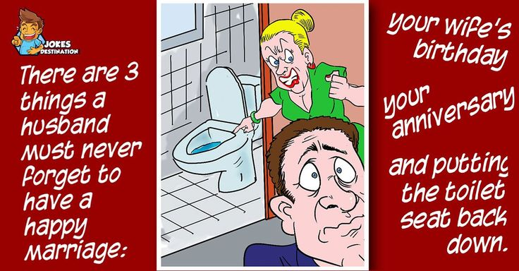 There are 3 things a husband must never forget to have a happy marriage: your wife's birthday, your anniversary, and putting the toilet seat back down.