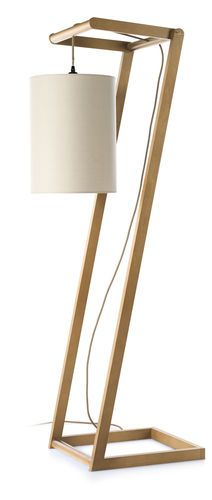 lmpara de pie moderna de interior de madera kendo envy lighting