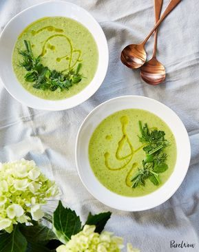 Spring Pea Soup with Mint