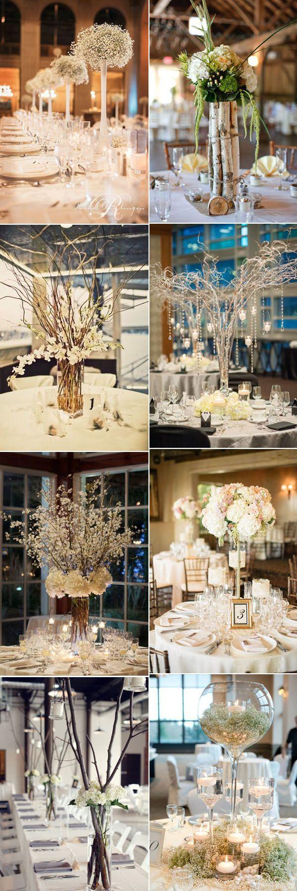 gorgeous tall wedding centerpieces inspiration