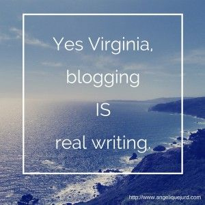 Angelique Jurd ponders the question of whether blogging counts as real writing.