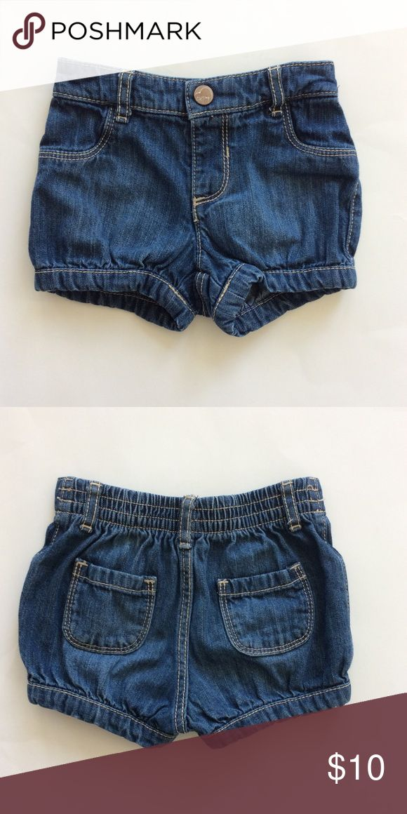 👫Old Navy Denim Shorts Old Nav Denim Shorts. Super cute wardrobe staple 💜 A bit of gathering round the leg opening (not elastic). Pockets. Snap front closure. Elastic in the back part of the waistband. 100% cotton. Size 12-18M. Excellent condition. Old Navy Bottoms Shorts