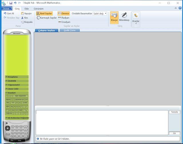 Microsoft mahthematics programında denklem çözme aracı kullanımı - özeldersci