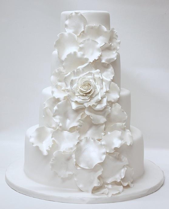 All White Wedding Cakes 7