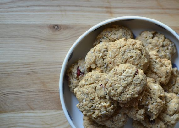 Cranberry and Coconut Oat Biscuit Recipe | By Patchwork Cactus