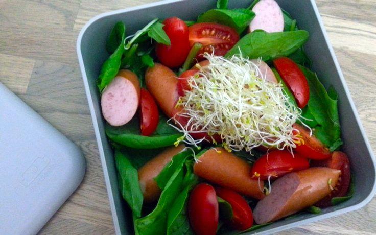 lunch: Knakworst salade