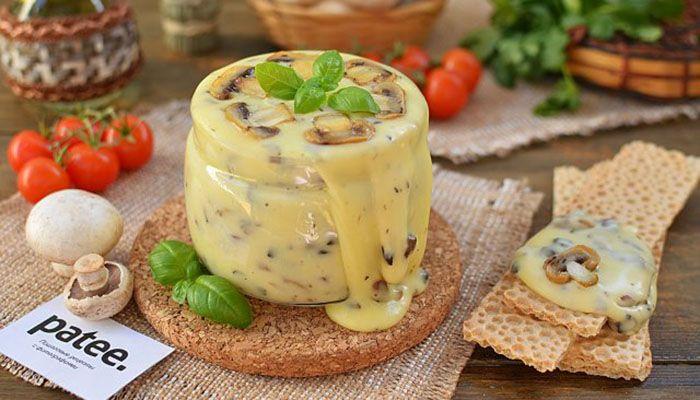 Домашний плавленый сыр с грибами. Такого вы ещё не готовили!