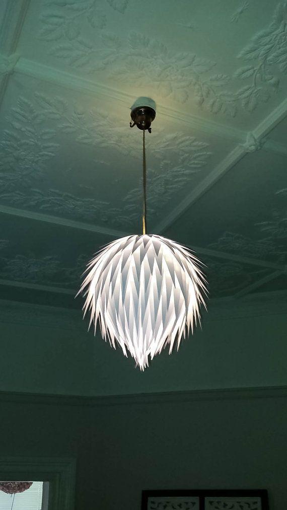 Artichoke Handmade Hanging Paper Light Shade - wedding decor, event lighting, lighting on Etsy, $55.23
