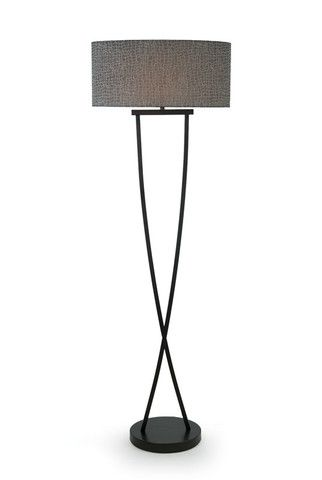 Bronze Crossover Curved Floor Lamp - Complete Pad ®
