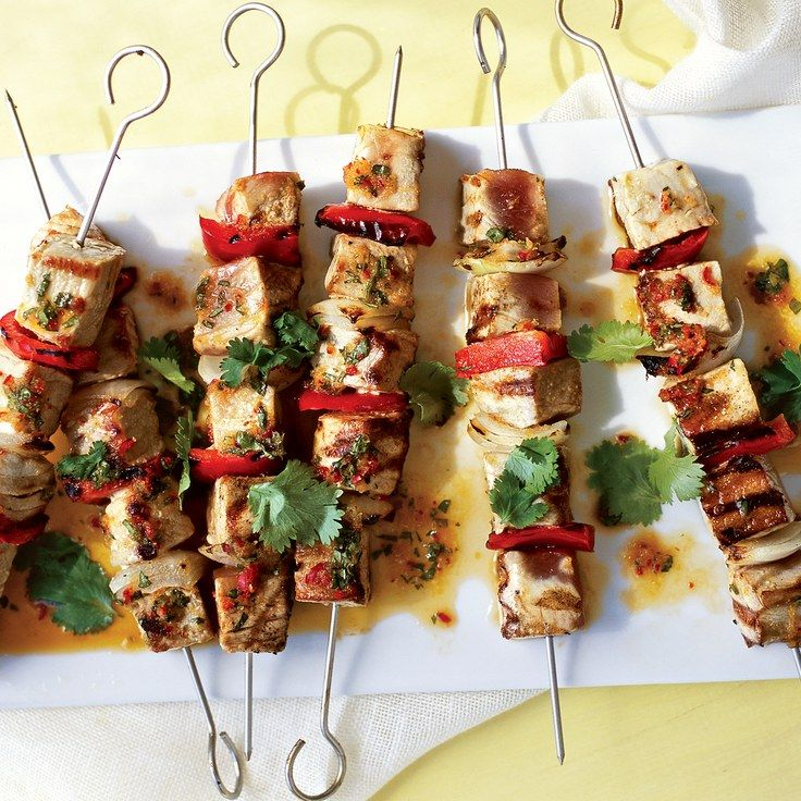 Tuna Kebabs with Ginger-Chile Marinade
