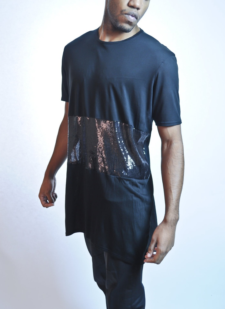 mens jersey tshirt with black sequin panel via etsy darklight clothing pinterest. Black Bedroom Furniture Sets. Home Design Ideas