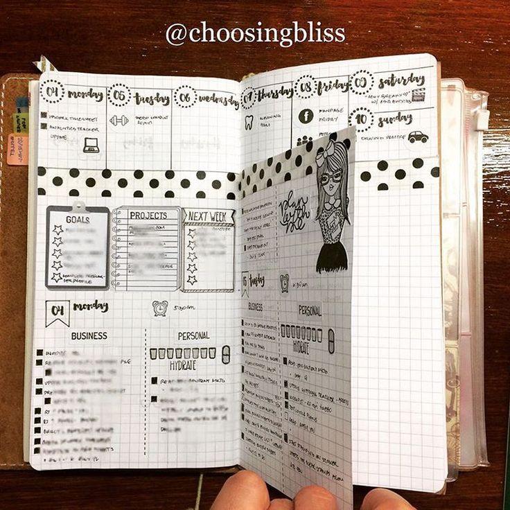 Dutch door bullet journal layout!