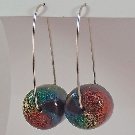 Spectrum Bead Polymer Clay Earrings by AnnaMadeThis on Etsy, £12.00