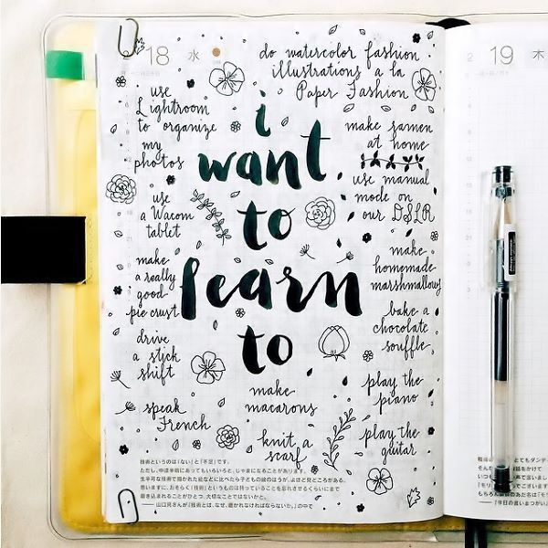 """""""I want to learn to"""" bullet journal"""