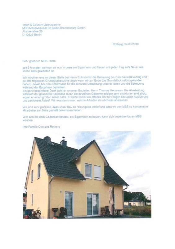 Zufriedene Bauherren Town Country Haus Bauherren