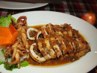 Stuffed squid at Mermaid Restaurant, Hoi An