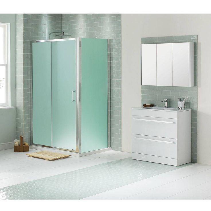 85 best bathroom vanities images on pinterest bathroom - Bathroom vanity with frosted glass doors ...