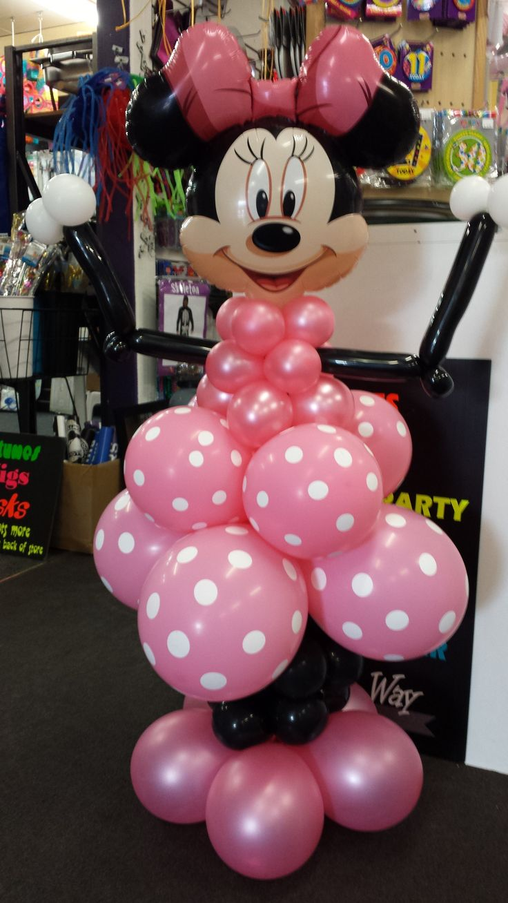 Minnie mouse balloon decoration stands approx 1 metre tall for Balloon decoration minnie mouse