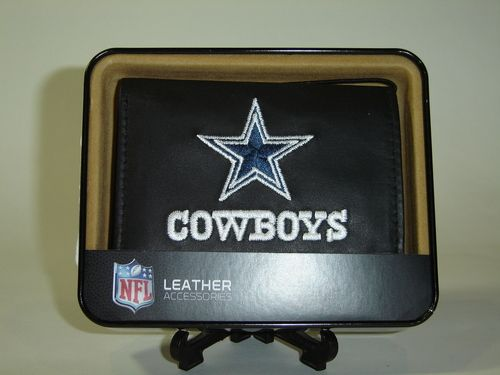 NFL Dallas Cowboys Leather Embroidered Wallet