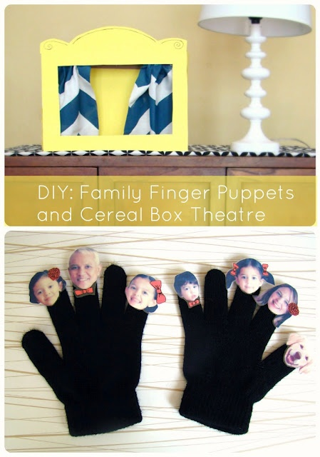 Family Finger Puppets and a Puppet Theatre