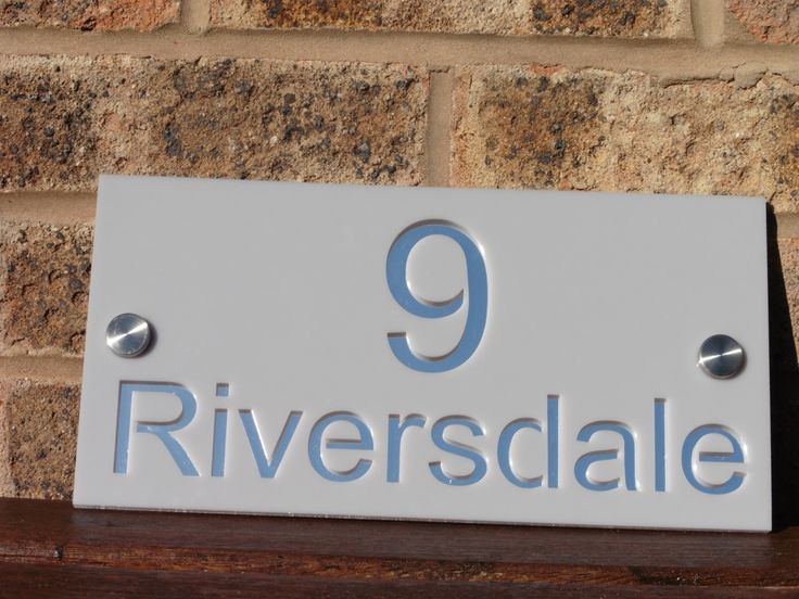 Modern Acrylic House Sign. Personalised house number and sreet name. Laser Cut. by WoodenPhotoMemories on Etsy https://www.etsy.com/uk/listing/473573391/modern-acrylic-house-sign-personalised