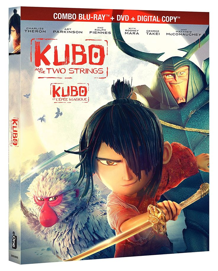 Kubo and the Two Strings Combo Blu-ray + DVD + Digital Copy Bilingual: Amazon.ca: Matthew McConaughey, Charlize Theron, Rooney Mara, Ralph Fiennes, Brenda Vaccaro, Art Parkinson, Travis Knight: DVD