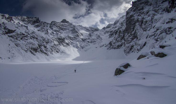 Czarny Staw pod Rysami. Tatra Mountains in winter.