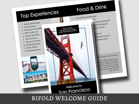 BiFold Vacation Rental Welcome Guide Template - San Francisco