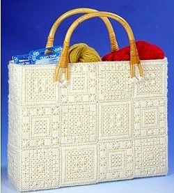 Aran Tote Bag Plastic Canvas Tapestry Needlepoint Kit 1825 Craft Idea Seeds Pinterest And