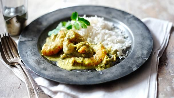 Kerala king prawn and coconut curry |      This quick prawn curry is the perfect blend of spicy, fresh and creamy. And it takes minutes to make.