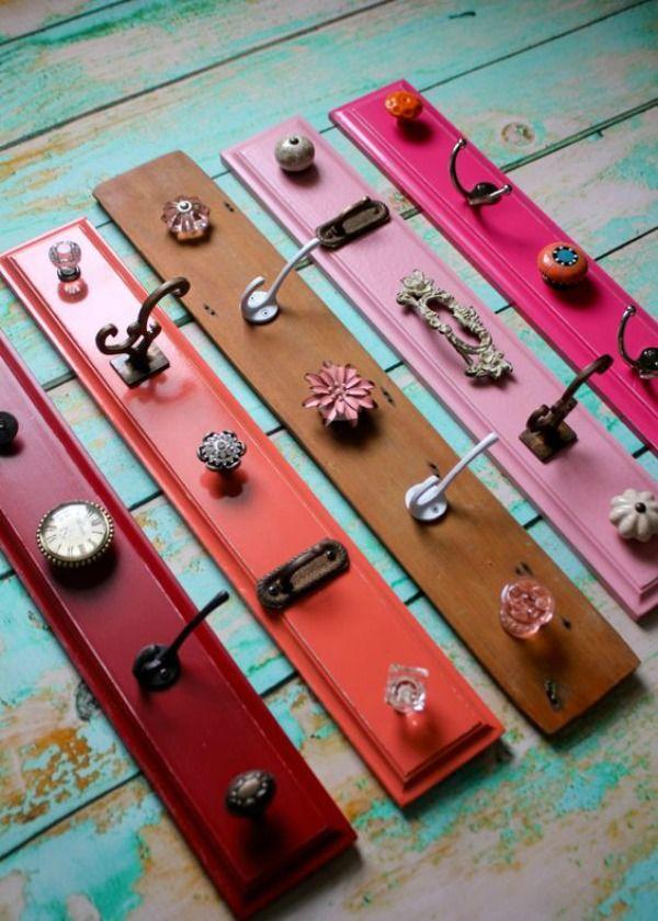 Ideas geniales para hacer percheros con objetos tan cotidianos como una cuchara.
