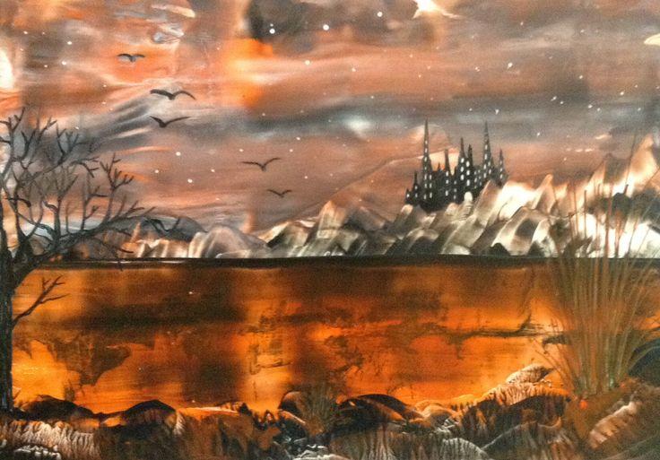 Encaustic fantasy painting