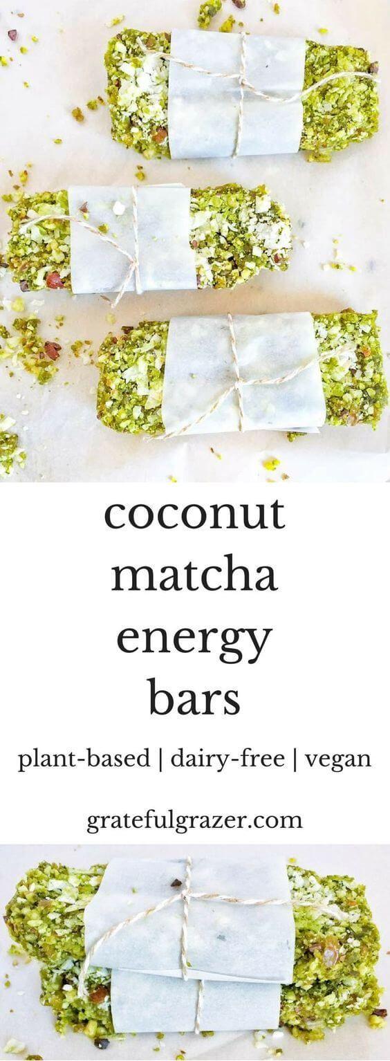 awesome Coconut Matcha Energy Bars