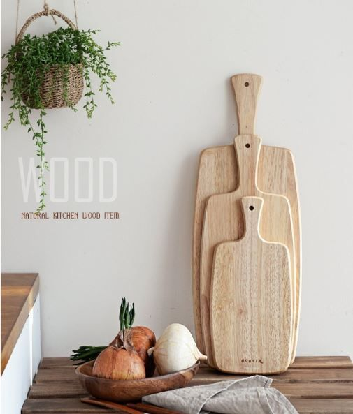 Wooden Chopping Cutting Board Bread Plate_ three(3) type sizes #ACASIA